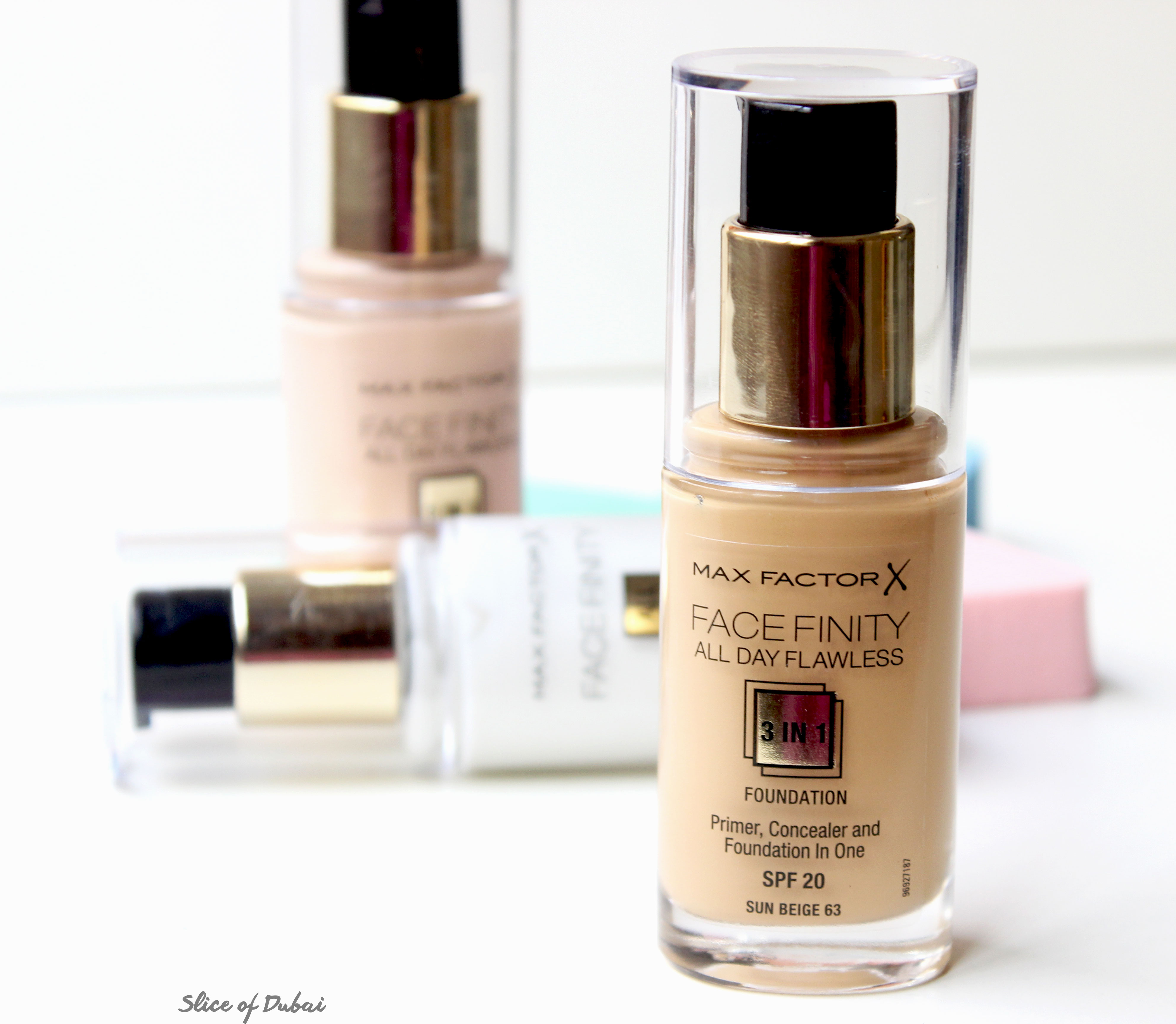 review max factor facefinity all day primer and flawless 3 in 1 foundation. Black Bedroom Furniture Sets. Home Design Ideas